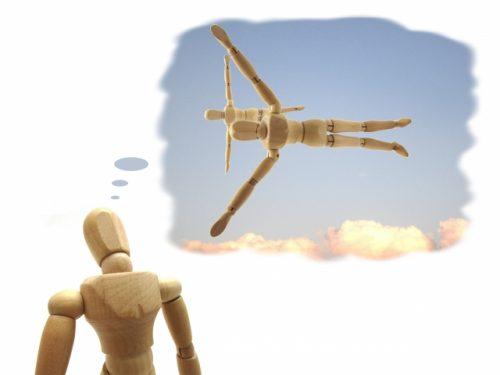 ドラえもんの道具「タケコプター」をイメージする画像