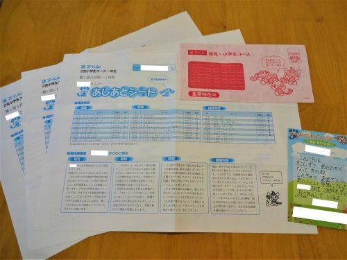 Z会小学生コース1年生の保護者向けシート