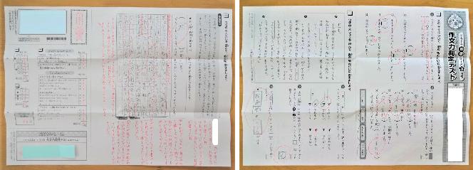 子どもの作文力がわかる「作文力判定テスト」の写真