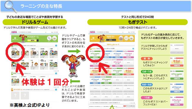 英検Jr.(英検ジュニア/児童英検)公式教材オンライン版ラーニングのサンプル画像