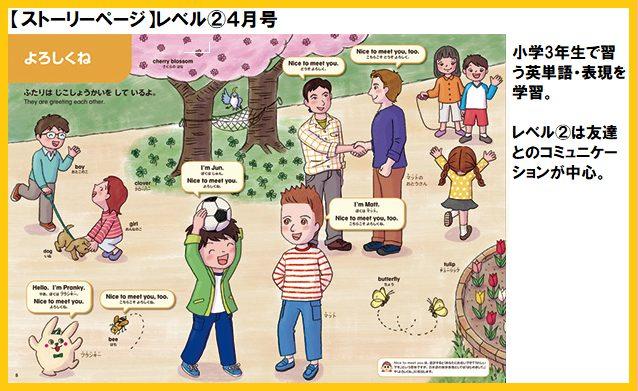 ポピーキッズイングリッシュ(ポピー Kids English)のポピペンBook レベル②のストーリーページ