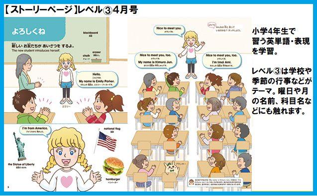 ポピーキッズイングリッシュ(ポピー Kids English)のポピペンBook レベル③のストーリーページ
