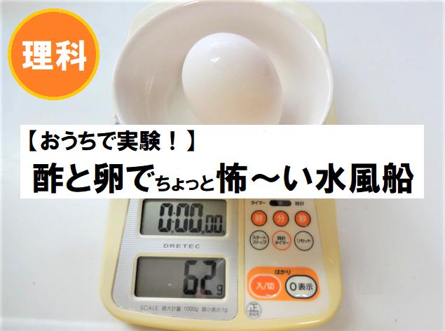 酢と卵で先生に褒められる自主学習をする方法